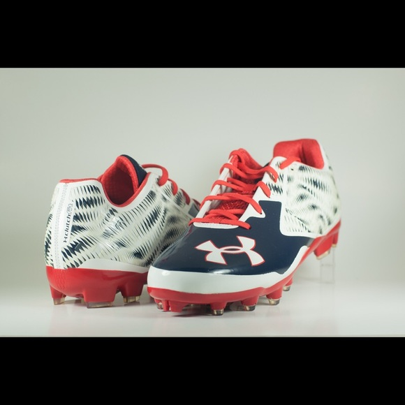 red and white under armour shoes